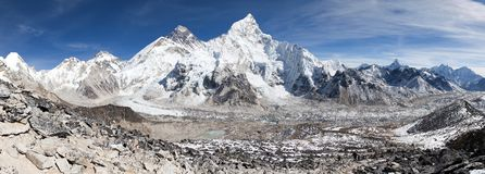 Panoramic view of Mount Everest Royalty Free Stock Photography