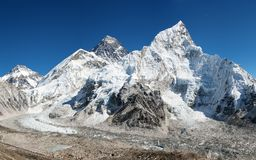 Panoramic view of Mount Everest Royalty Free Stock Image