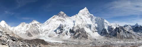 Panoramic view of Mount Everest with beautiful sky Royalty Free Stock Photo