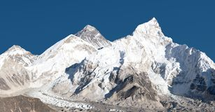 Panoramic view of Mount Everest with beautiful sky Stock Photography