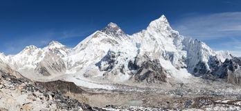 Panoramic view of Mount Everest with beautiful sky Royalty Free Stock Photos