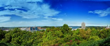 Panoramic view at Mount Faber Stock Image