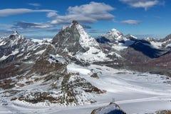 Panoramic view of mount Matterhorn,  Alps, Switzerland Stock Images