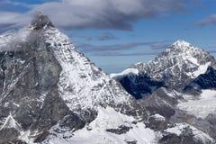 Panoramic view of mount Matterhorn, Alps, Switzerland Stock Photo