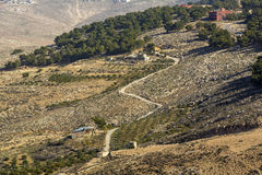 Panoramic view of Mount Nebo. On the land of promise Stock Photo