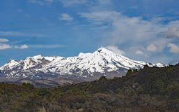 Panoramic view of Mount Ngauruhoe in Tongariro National Park. It featured as Mount doom in the Lord of the Rings films.  stock image
