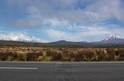 Panoramic view of Mount Ngauruhoe in Tongariro National Park. It featured as Mount doom in the Lord of the Rings films.  royalty free stock images