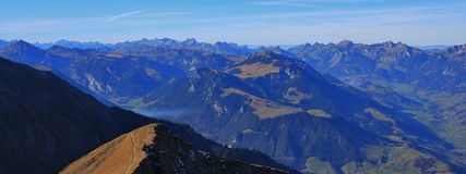 Panoramic view from mount Niesen Stock Image