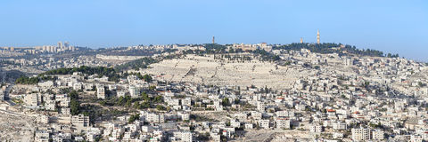Panoramic view of the Mount of Olives in Jerusalem, Israel Stock Photo