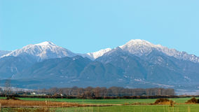 Panoramic view of mount Olympus, Pieria, Greece Royalty Free Stock Image