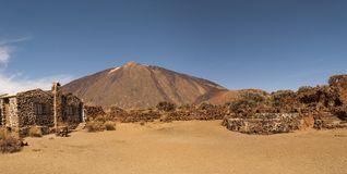 Panoramic View of Mount Teide. In summer, Tenerife, Spain Stock Photos