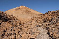 Panoramic View of Mount Teide. In summer, Tenerife, Spain Stock Images