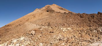 Panoramic View of Mount Teide. In summer, Tenerife, Spain Stock Image