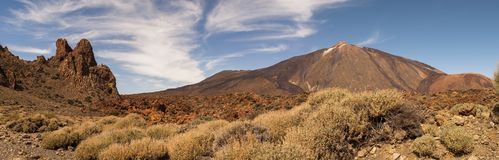 Panoramic View of Mount Teide. In summer, Tenerife, Spain Stock Photography