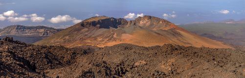 Panoramic View from Mount Teide. In summer, Tenerife, Spain Royalty Free Stock Photos