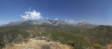 Panoramic view of the mountain Stock Photography