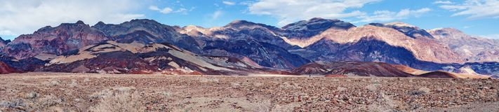 Mountain area near Artists Drive in Death Valley National Park. USA. Panoramic view of mountain area near Artists Drive in Death Valley National Park Stock Photo