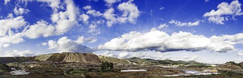Panoramic view of mountain royalty free stock photography