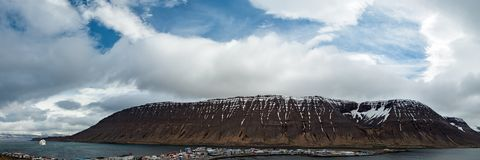 Panoramic view in Isafjordur, Iceland Royalty Free Stock Images