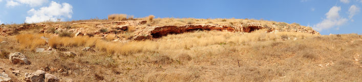 Panoramic View. Of a mountain in Irbid Jordan Stock Photo