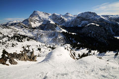 Panoramic view from the mountain Jenner. Stock Images