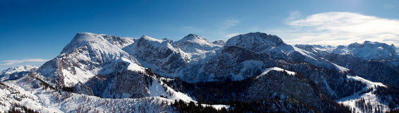 Panoramic view from the mountain Jenner. Royalty Free Stock Images