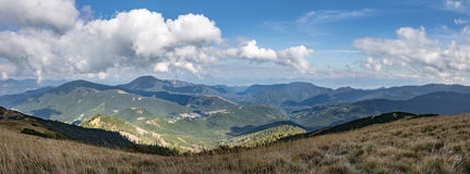 Panoramic view of mountain landscape Royalty Free Stock Images