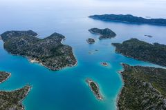 Panoramic view from the mountain over the Kas rivera ,hiking up Lycian trail mountain of Kas. Turkey royalty free stock photos