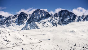 Panoramic view of the mountain peak Royalty Free Stock Photography