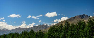 Panoramic view of the mountain range Stock Photography