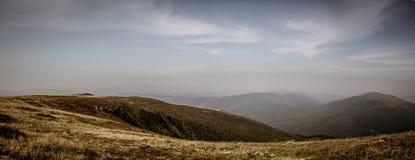 Panoramic view on  mountain Runa. Carpathian,Ukraine Royalty Free Stock Photos