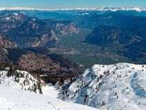 Panoramic View Mountain Snow landscape Alps Italy. Panoramic View Mountain Snow landscape Alps in Italy royalty free stock images