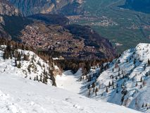 Panoramic View Mountain Snow landscape Alps Italy. Panoramic View Mountain Snow landscape Alps in Italy stock images