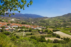 Panoramic view of mountain village Stock Images
