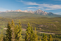 Panoramic view of mountain vistas Royalty Free Stock Images