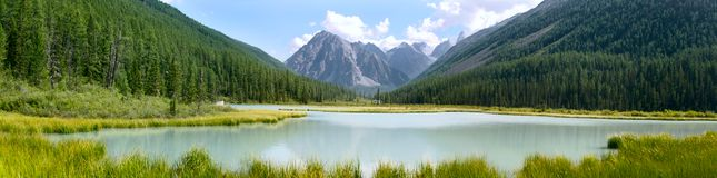 Panoramic view of mountains Royalty Free Stock Photo