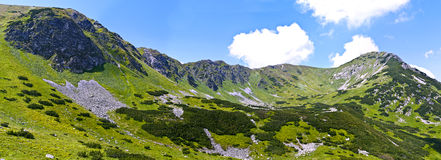 Panoramic view on mountains Stock Photos