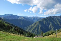 Panoramic view of mountains Stock Photo