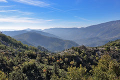 Panoramic view of the mountains Stock Photos