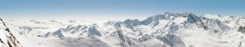 Panoramic View of Mountains in Austria Royalty Free Stock Photo