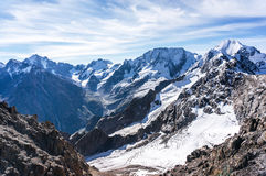 Panoramic view on the mountains Stock Photos