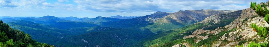 Panoramic view by the inland Corsica Royalty Free Stock Photography
