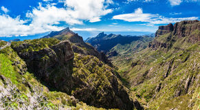 Panoramic view of the mountains near Masca village Royalty Free Stock Photography