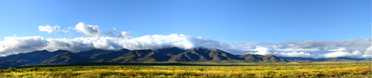 Panoramic view of the mountains of northern New Mexico Stock Photos