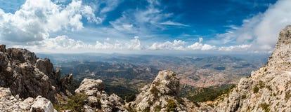 Panoramic view from the mountains on Sardinia Stock Image
