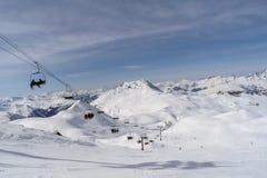 The mountains of ski resort Les Arcs, France . stock photos