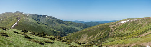 Panoramic view of mountains Royalty Free Stock Photography