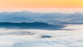 Panoramic view of mountains. In Thailand Royalty Free Stock Images