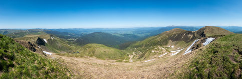 Panoramic view from the mountaintop Royalty Free Stock Images