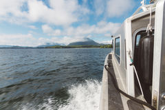 Panoramic view from moving boat Stock Photography